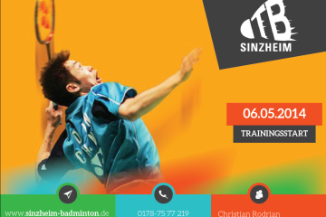 Badminton Jugendtraining in Sinzheim: Ab 6. Mai 2014